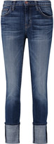Current/Elliott The Cuffed mid-rise skinny jeans