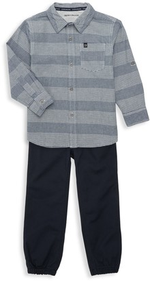Calvin Klein Jeans Little Boy's 2-Piece Shirt and Pants Set