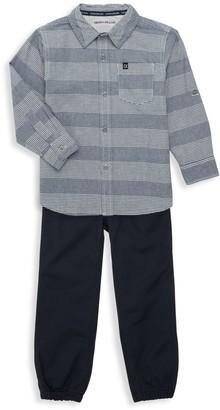 Calvin Klein Jeans Little Boy's 2-Piece Shirt and Pants Set