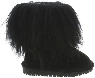 BearPaw Boo Shaggy Genuine Lamb Hair Bootie (Little Kid & Big Kid)