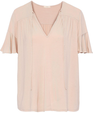 Eberjey Ivy Flounce Stretch Modal-jersey Pajama Top