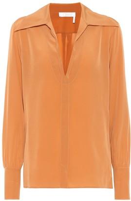 Chloã© Silk crApe di chine blouse