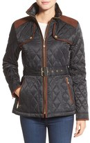 Vince Camuto Diamond Quilted Jacket with Faux Suede Trim