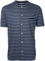 Lanvin button front striped top - men - Cotton - M