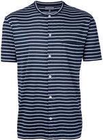 Lanvin button front striped top - men - Cotton - XS