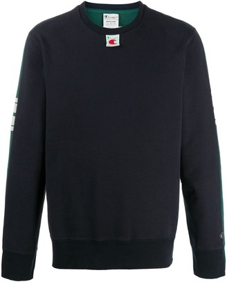Champion Two-Tone Logo Print Sweatshirt