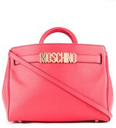 Moschino logo plaque tote - women - Calf Leather - One Size