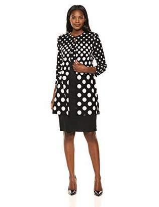 Danny & Nicole Women's Polka Dot Lab Coat Jacket Dress