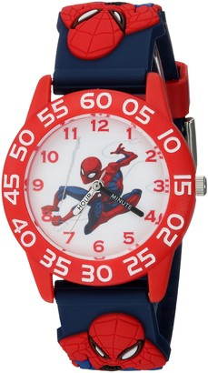 Marvel Boys Spider-Man Analog-Quartz Watch with Plastic Strap Blue 16 (Model: WMA000169)