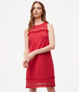 LOFT Fringe Mesh Shift Dress