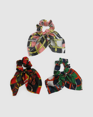 Morgan & Taylor Josie Scrunchie Set with Short Tails