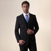 Jeff Banks Black Plain Weave Travel Plus Regular Fit 2 Button Jacket