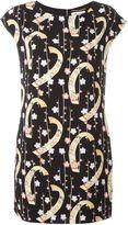Saint Laurent digital floral print shift dress - women - Polyester/Silk - 40