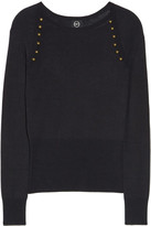 McQ by Alexander McQueen Embellished fine-knit sweater