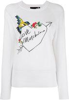 Love Moschino embroidered logo jumper - women - Cotton - 42
