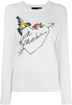 Love Moschino embroidered logo jumper - women - Cotton - 44