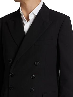 Dries Van Noten Browery Wool-Blend Double-Breasted Jacket