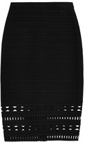 Herve Leger Caroline cutout bandage mini skirt