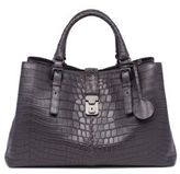 Bottega Veneta Roma Medium Soft Crocodile Satchel