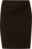 IRO Knot Front Mini Skirt
