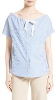 Theory Women's Velvela Stripe Cotton Top