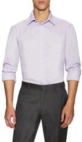 Armani Collezioni Solid Barrel Cuff Dress Shirt