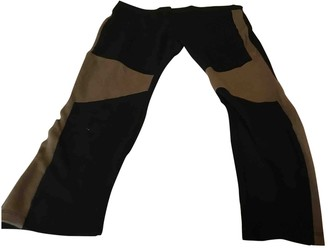 Theory Black Cotton Trousers