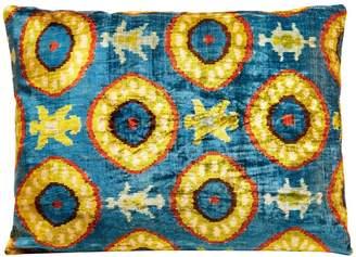 Oasis Heritage Geneve Silk Velvet Ikat Rectangular Cushion