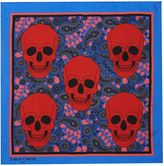 Simon Carter Paisley And Skulls Pocket Square