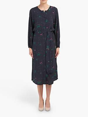 Essentiel Antwerp Tataclean Spot Floral Print Dress, Denim