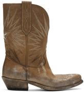 Golden Goose Beige Wish Star Low Boots