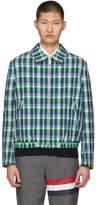 Thom Browne Blue Madras Double Pocket Golf Jacket