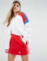 Le Coq Sportif Sweat Bomber Jacket With Colour Block Panels