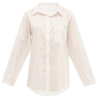 POUR LES FEMMES Star-print Cotton-voile Nightshirt - White Print