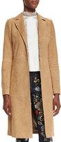 Alice + Olivia Logan Suede Mid-Length Coat