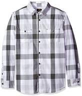 Lee Men's Long Sleeve Plaid Button Down Shirts