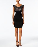 Xscape Evenings Lace Pleated Bodycon Dress