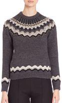 Valentino Studded Wool & Alpaca Fair Isle Swetater