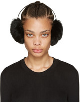 Yves Salomon Black Fur Earmuffs
