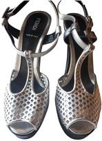 Fendi Silver Patent leather Heels