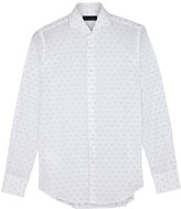 Lardini White Jacquard Cotton Shirt