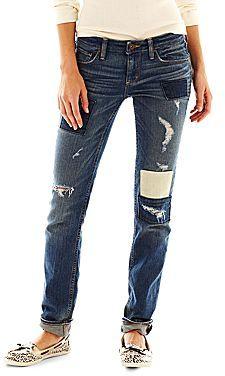 Arizona Patched Skinny Jeans