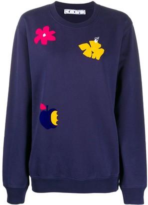 Off-White Floral Print Sweatshirt