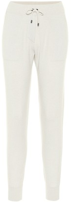 Brunello Cucinelli Ribbed knit cashmere trackpants