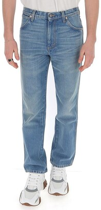 Gucci Logo Patch Faded Straight-Leg Jeans
