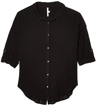 Seafolly Classic Beach Shirt Cover-Up (Black) Women's Swimwear
