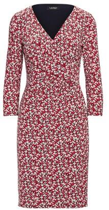 Lauren Ralph Lauren Ralph Lauren Floral Jersey Surplice Dress