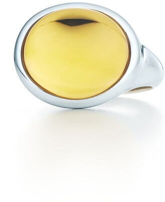 Tiffany & Co. Elsa Peretti Cabochon ring in sterling silver with a citrine