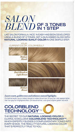 Clairol Nice 'n Easy with Color Blend Technology Permanent Color Natural Medium Golden Neutral Blonde 8GN/105G