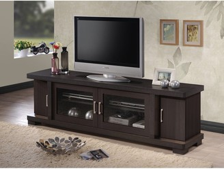 Porch & Den Kittery Contemporary 70-inch Dark Brown Wood TV Cabinet